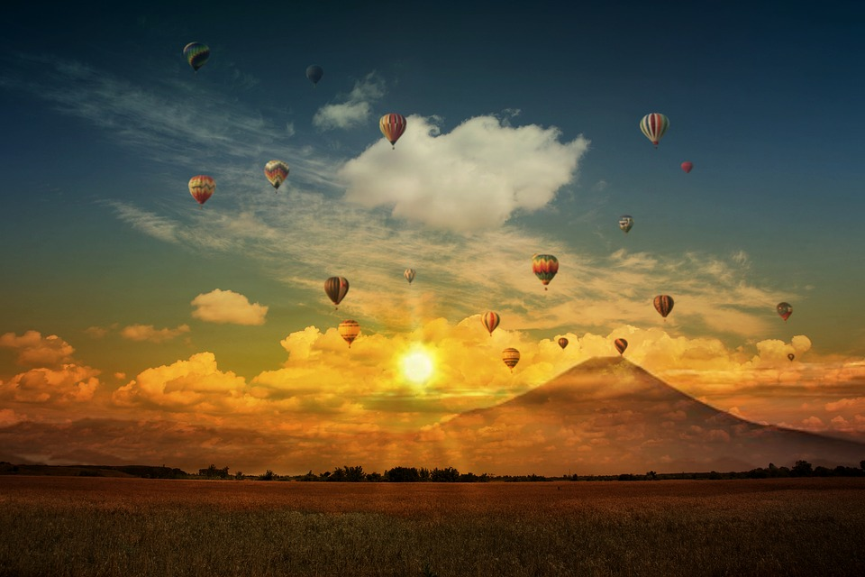 Balloon Hot Air Balloon Air Sunset Fantasy