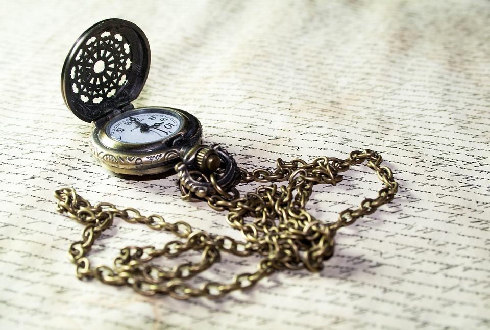 Antique Pocket Watch Old Letters Clock Time Font